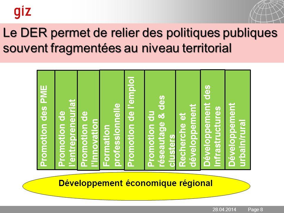 Le DER permet de relier des politiques publiques souvent fragmentées au niveau territorial