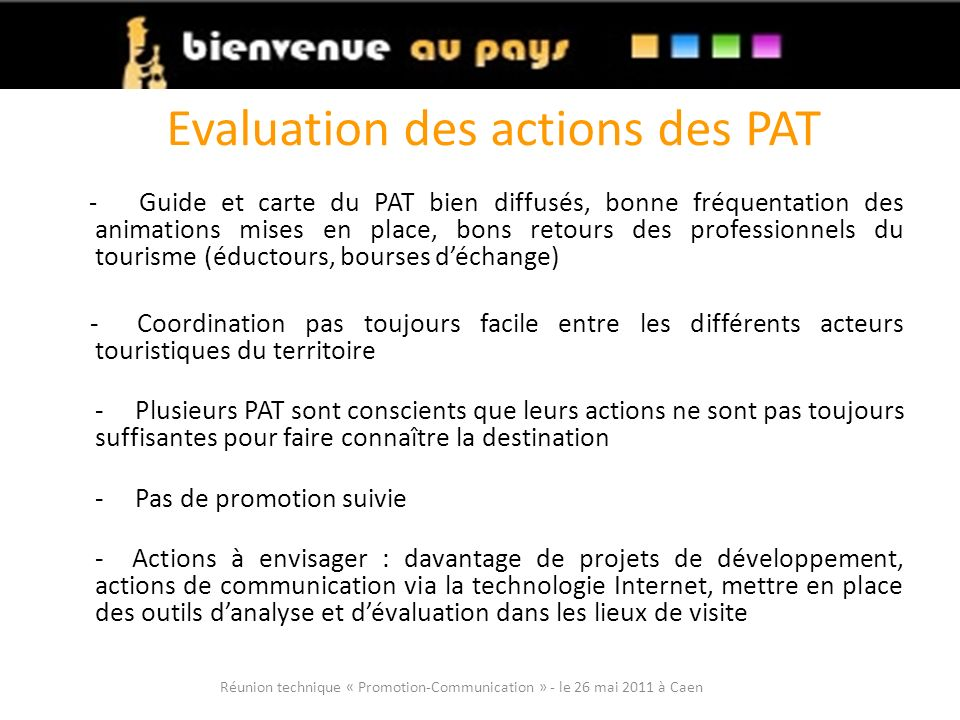 Evaluation des actions des PAT