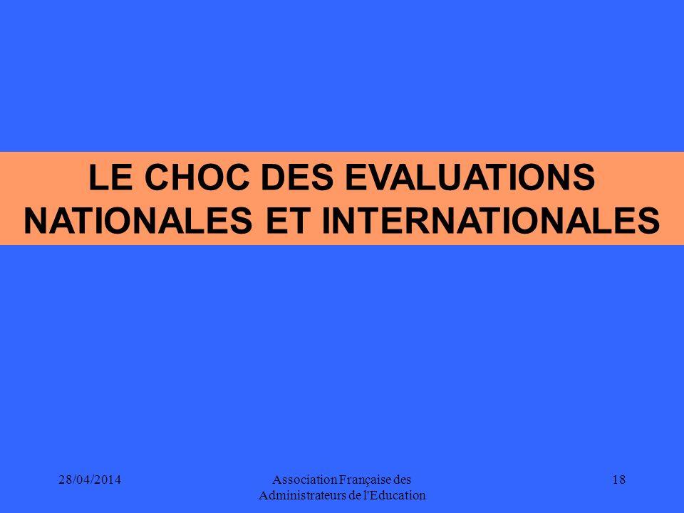LE CHOC DES EVALUATIONS NATIONALES ET INTERNATIONALES
