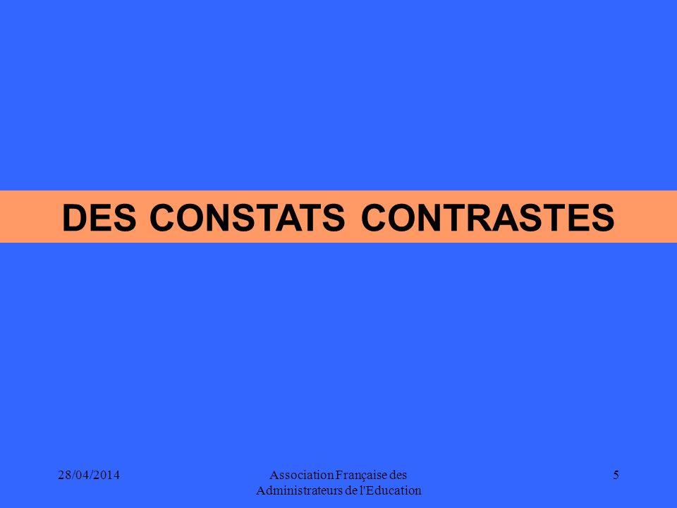 DES CONSTATS CONTRASTES