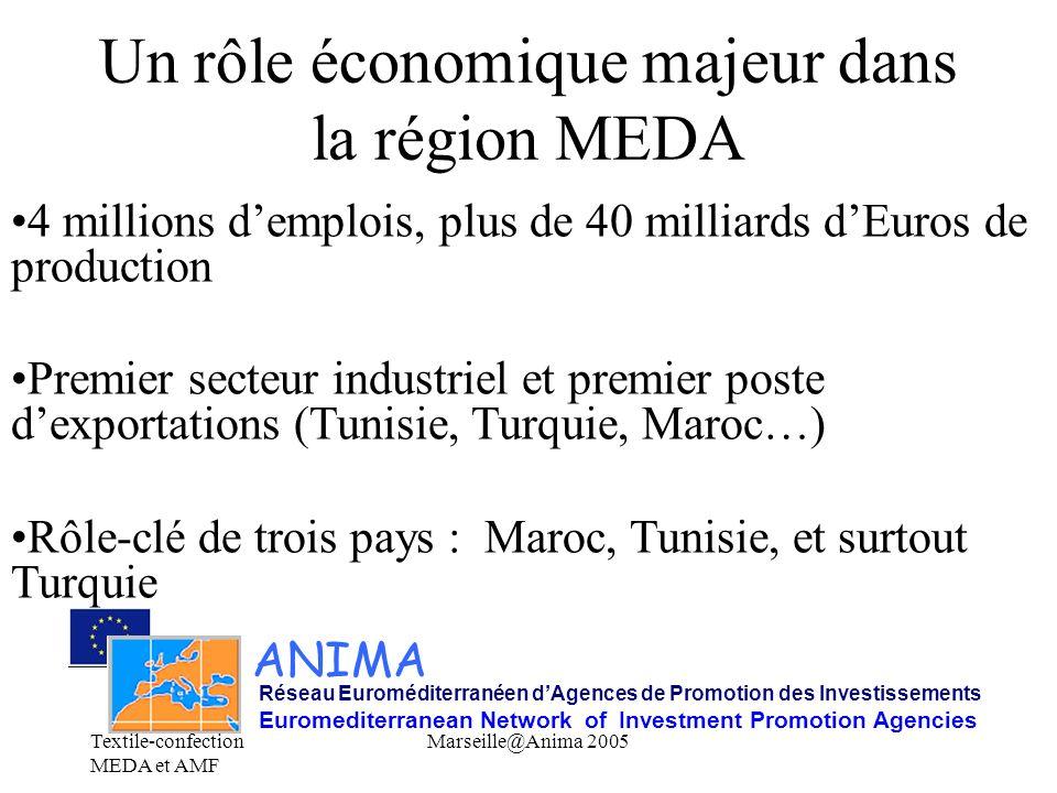 Un rôle économique majeur dans la région MEDA