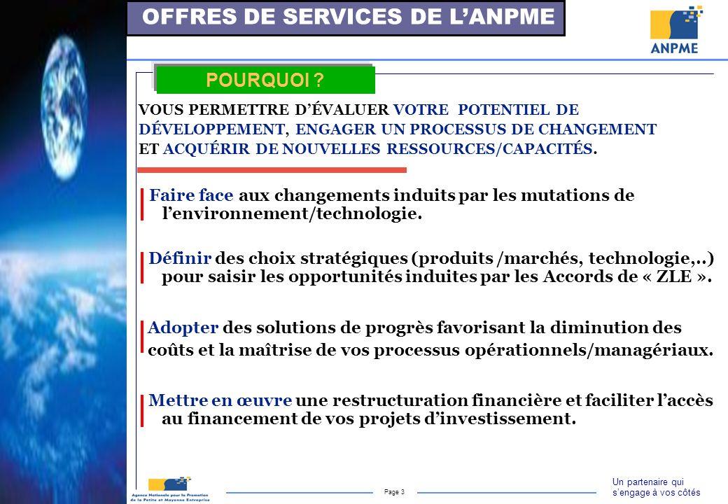 OFFRES DE SERVICES DE L'ANPME