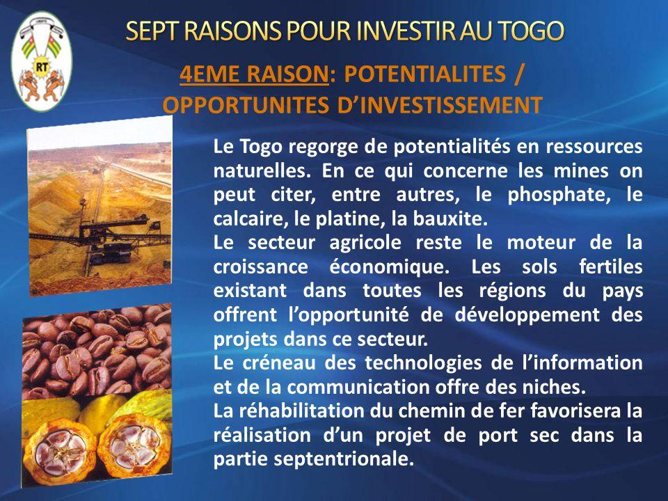SEPT RAISONS POUR INVESTIR AU TOGO