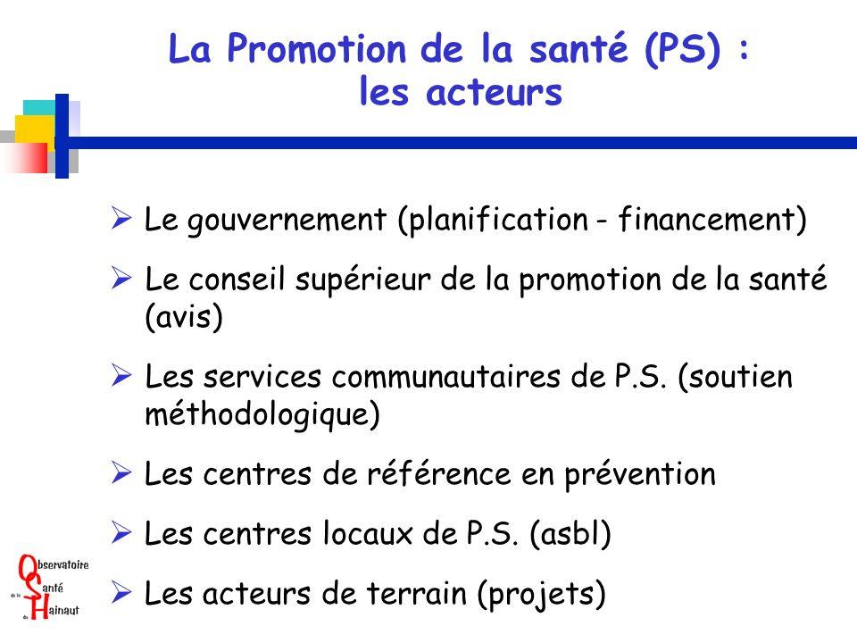 La Promotion de la santé (PS) :