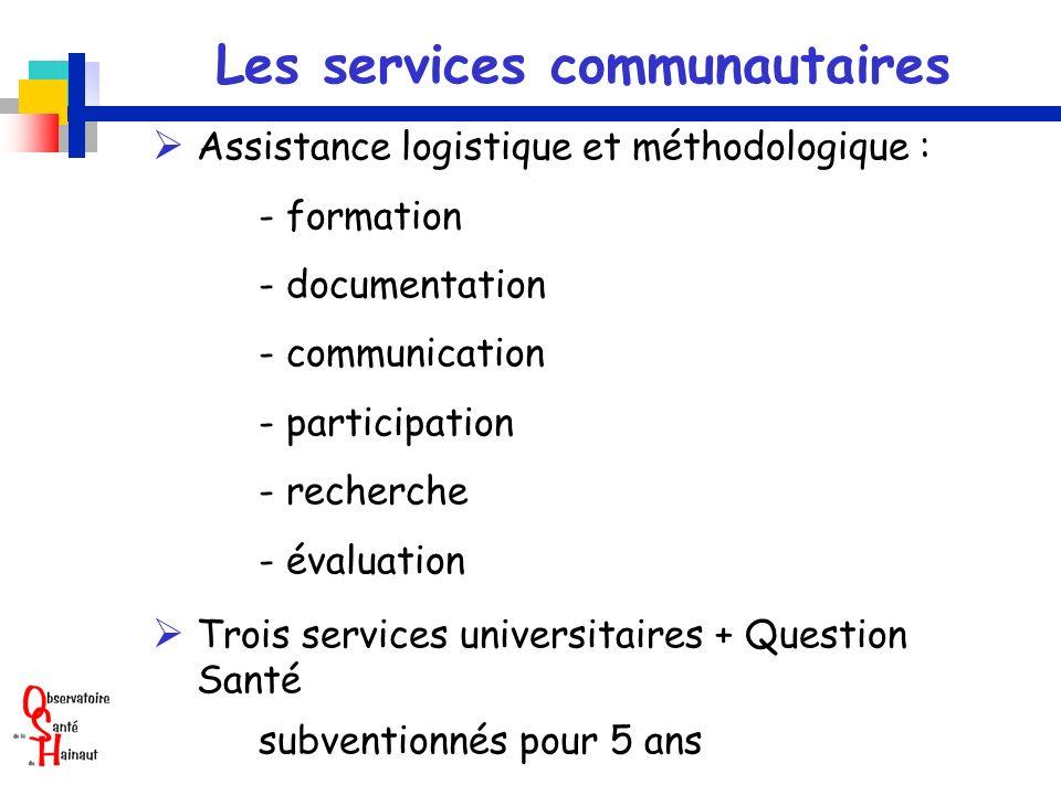 Les services communautaires