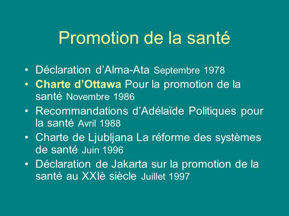 Promotion de la santé Déclaration d'Alma-Ata Septembre 1978