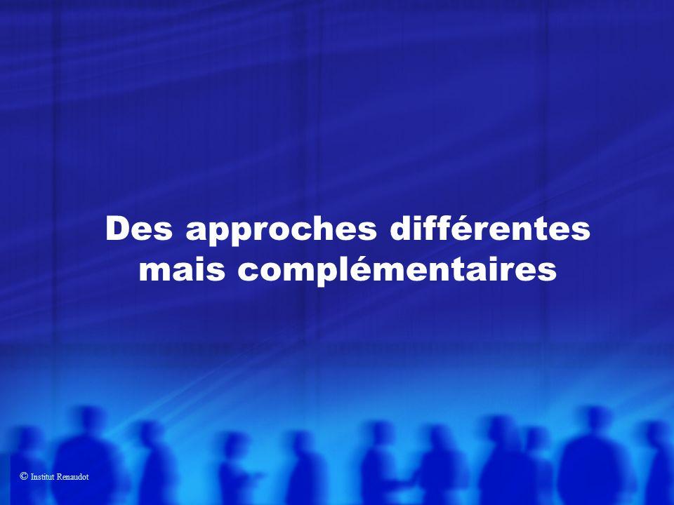 Des approches différentes mais complémentaires