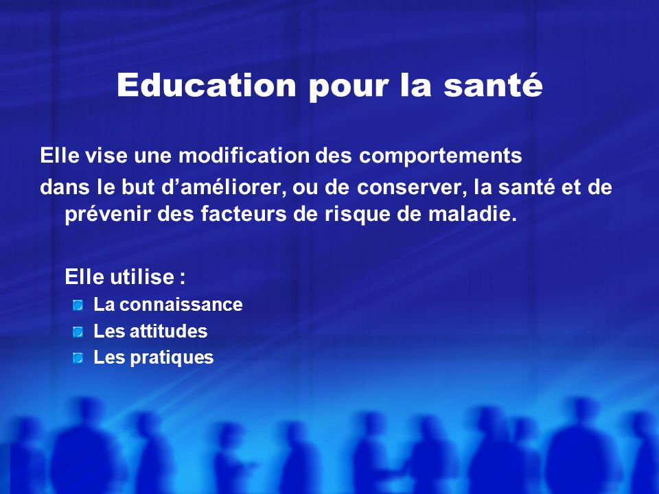 Education pour la santé