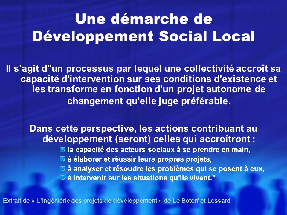 Une démarche de Développement Social Local