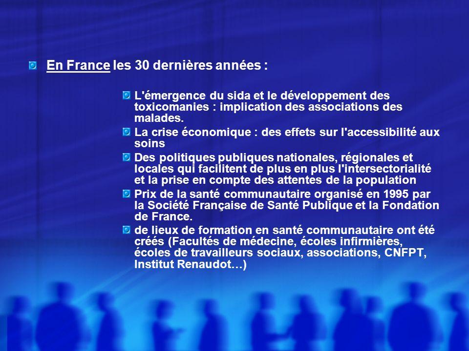 En France les 30 dernières années :