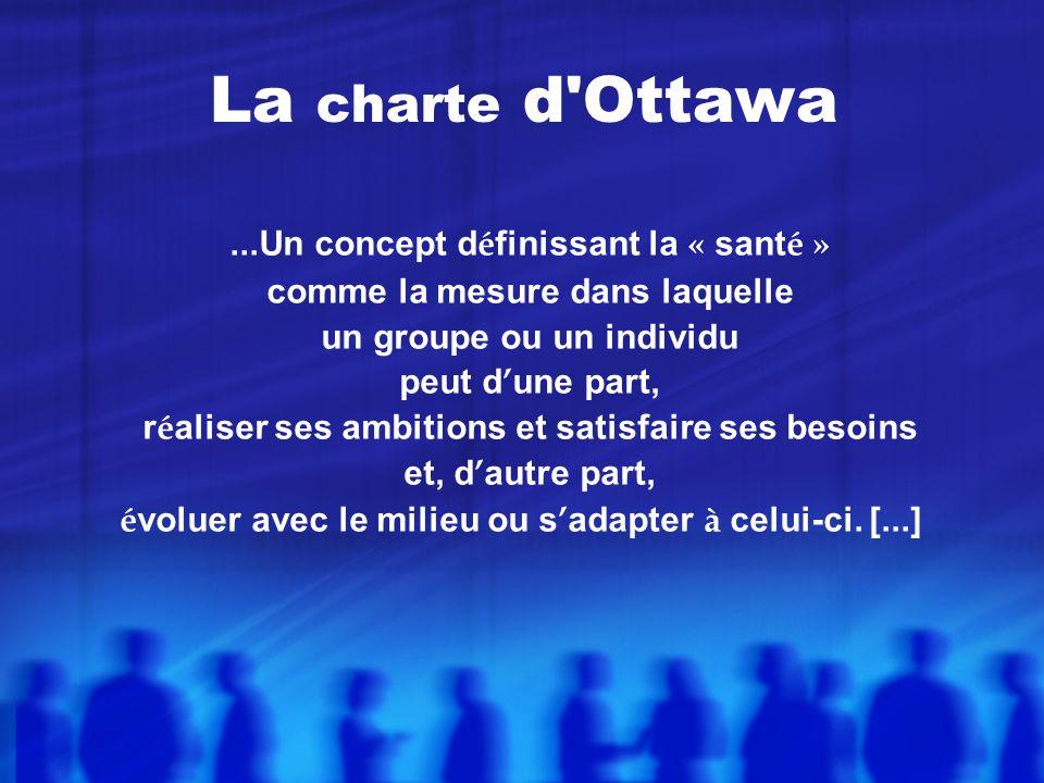 La charte d Ottawa ...Un concept définissant la « santé »
