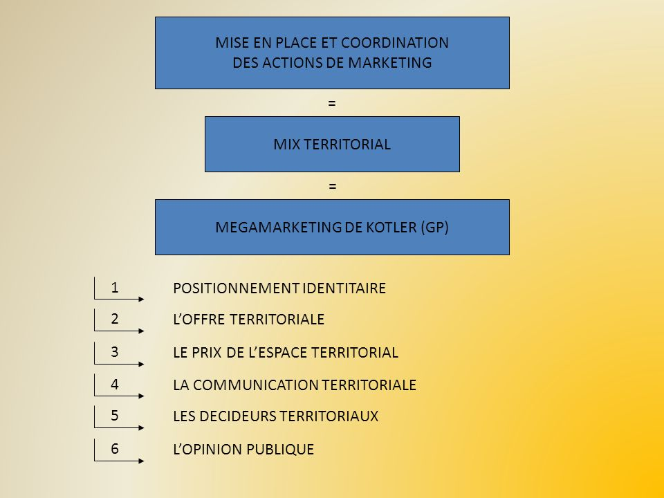 MISE EN PLACE ET COORDINATION DES ACTIONS DE MARKETING