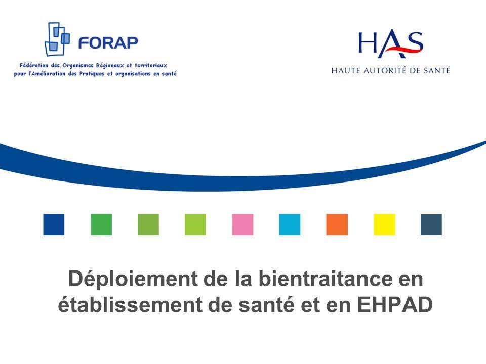 Déploiement de la bientraitance en établissement de santé et en EHPAD