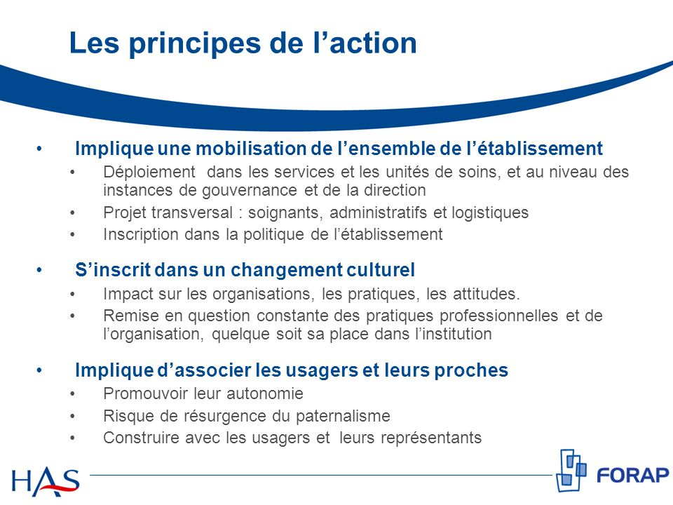 Les principes de l'action