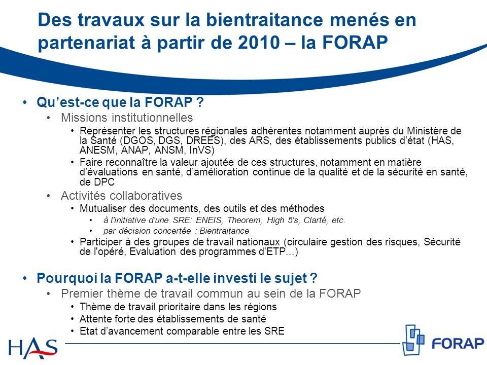 Des travaux sur la bientraitance menés en partenariat à partir de 2010 – la FORAP