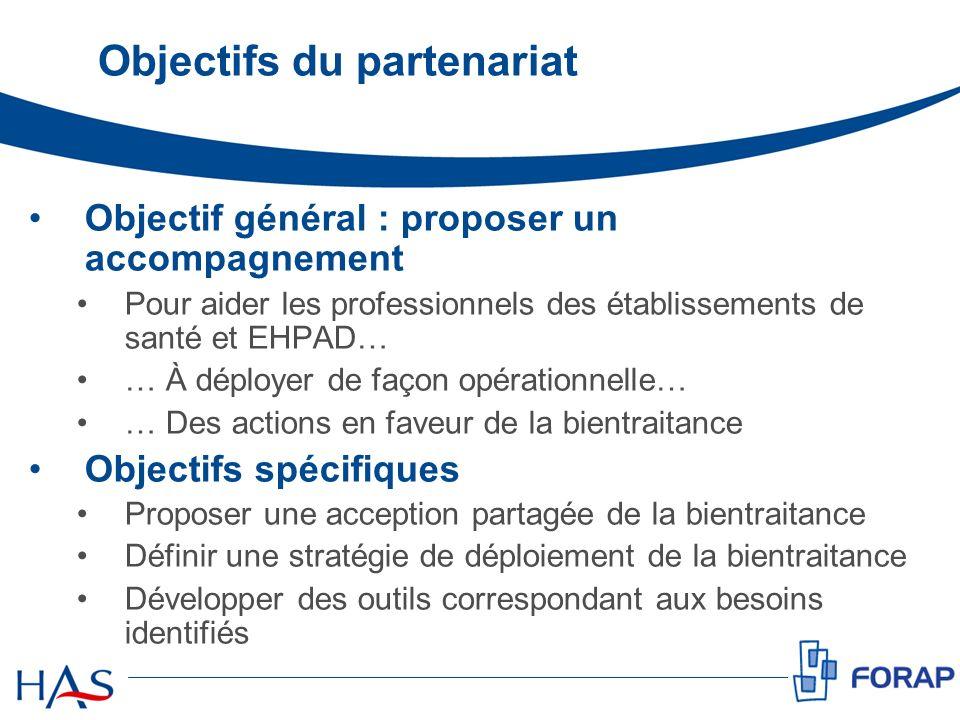 Objectifs du partenariat