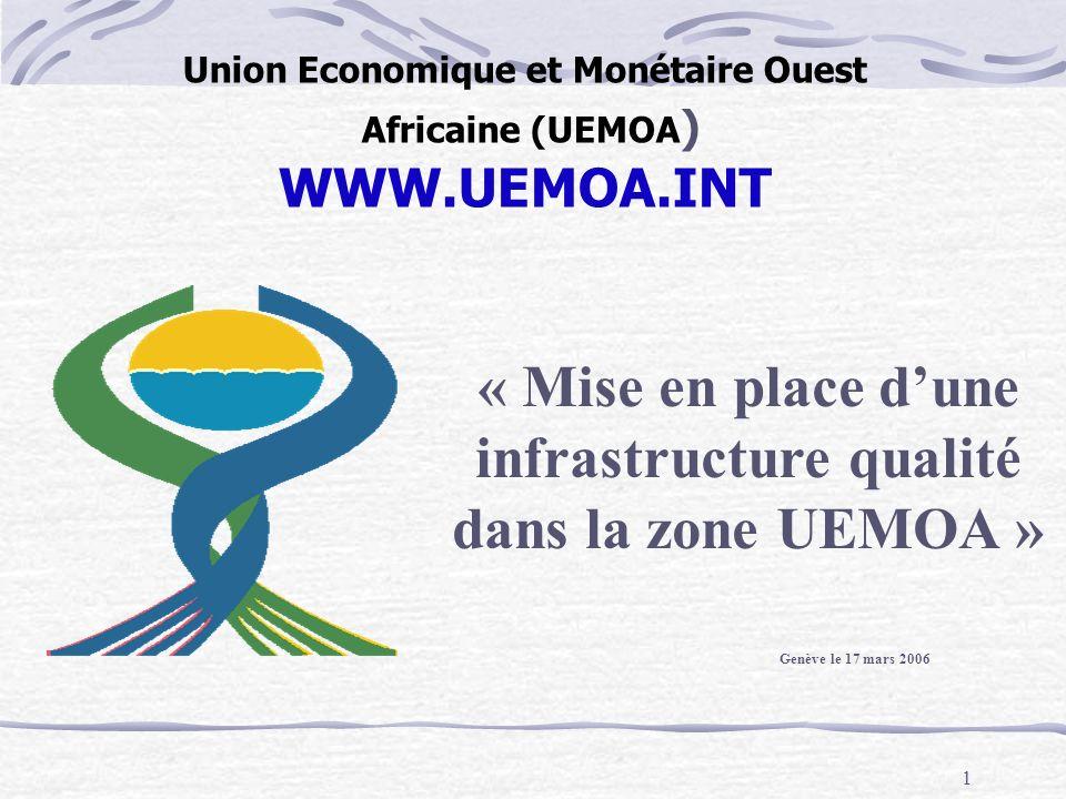 Union Economique et Monétaire Ouest Africaine (UEMOA) WWW.UEMOA.INT