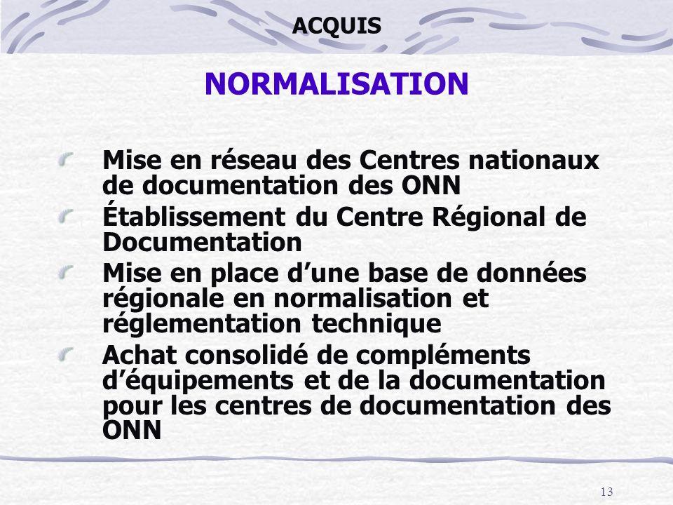 Mise en réseau des Centres nationaux de documentation des ONN