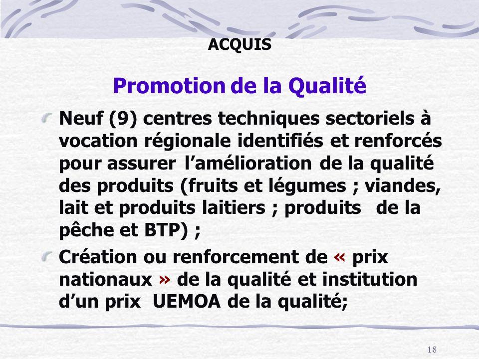 ACQUIS Promotion de la Qualité