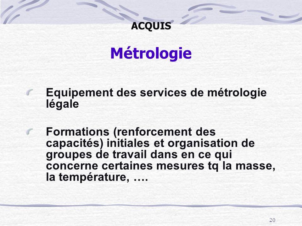 Equipement des services de métrologie légale