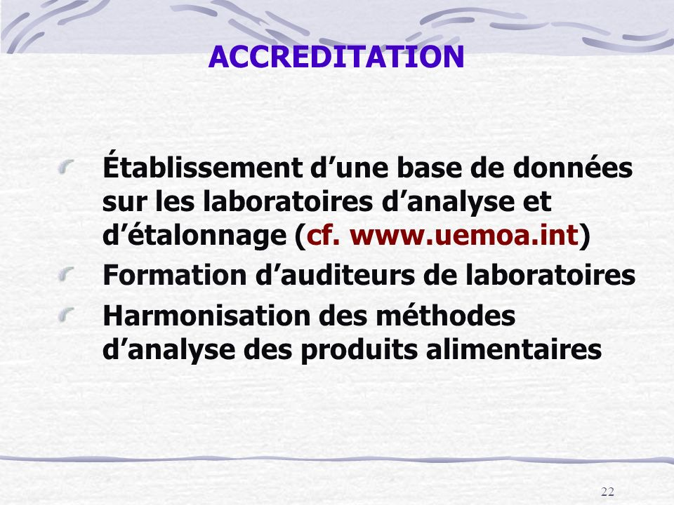 Formation d'auditeurs de laboratoires