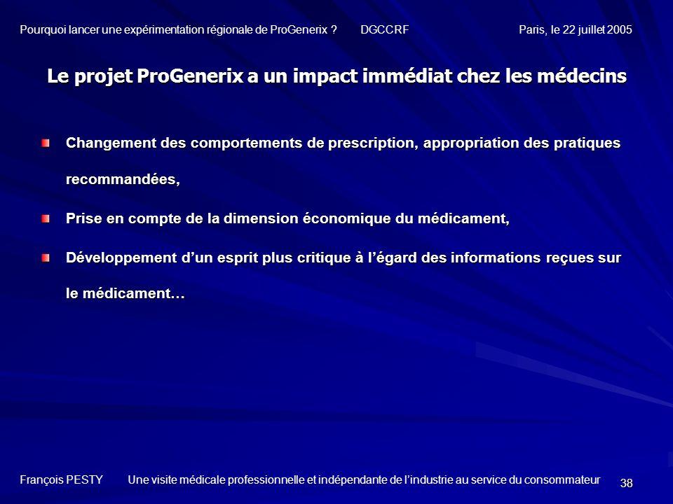 Le projet ProGenerix a un impact immédiat chez les médecins