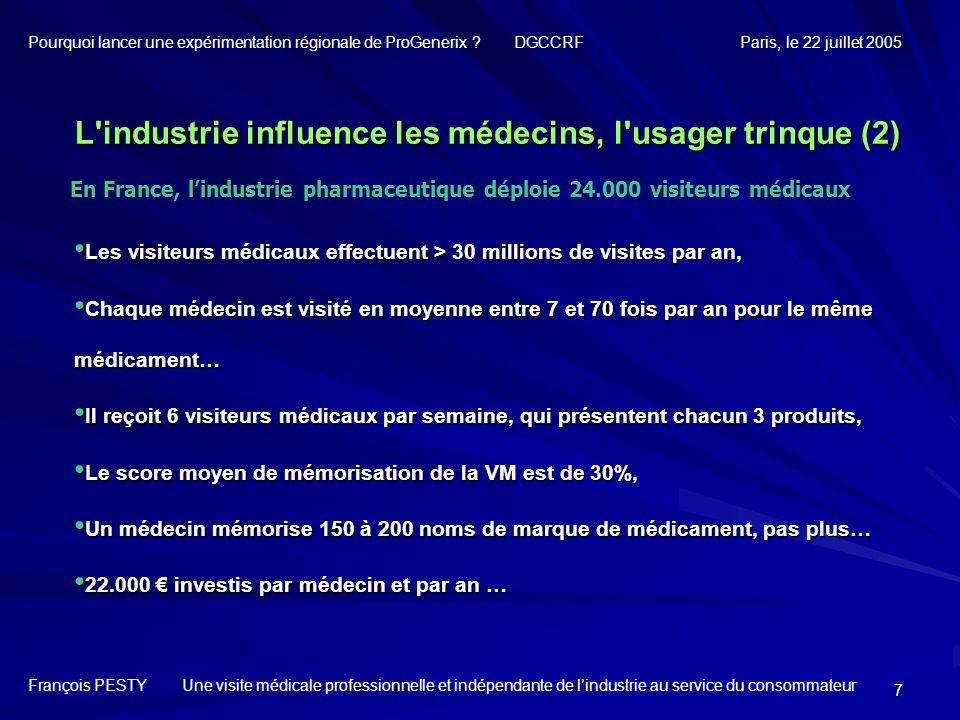L industrie influence les médecins, l usager trinque (2)