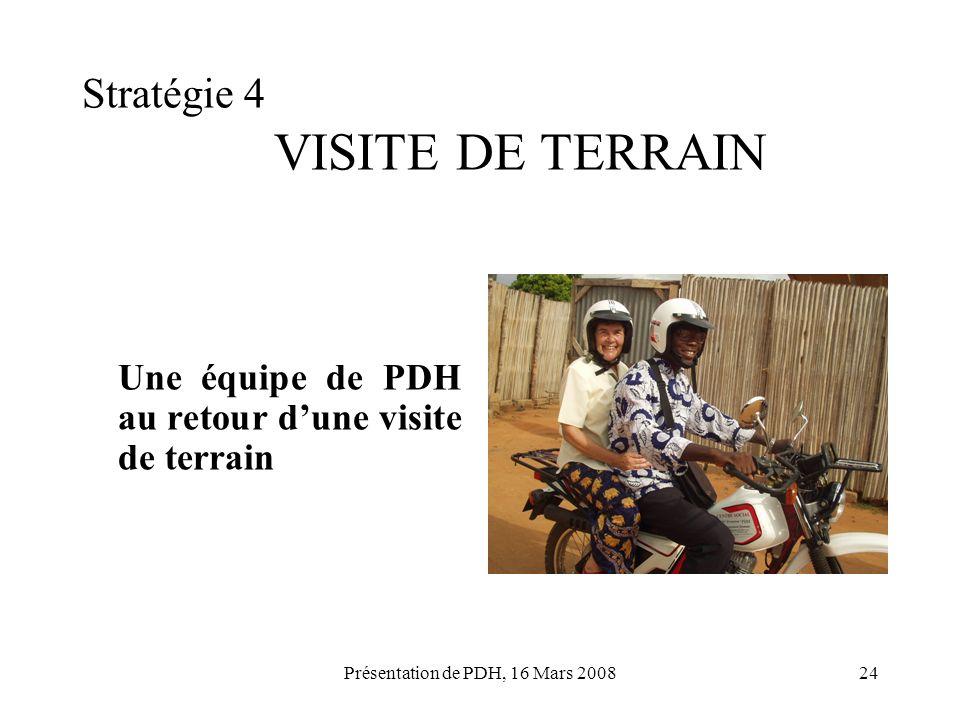 Stratégie 4 VISITE DE TERRAIN