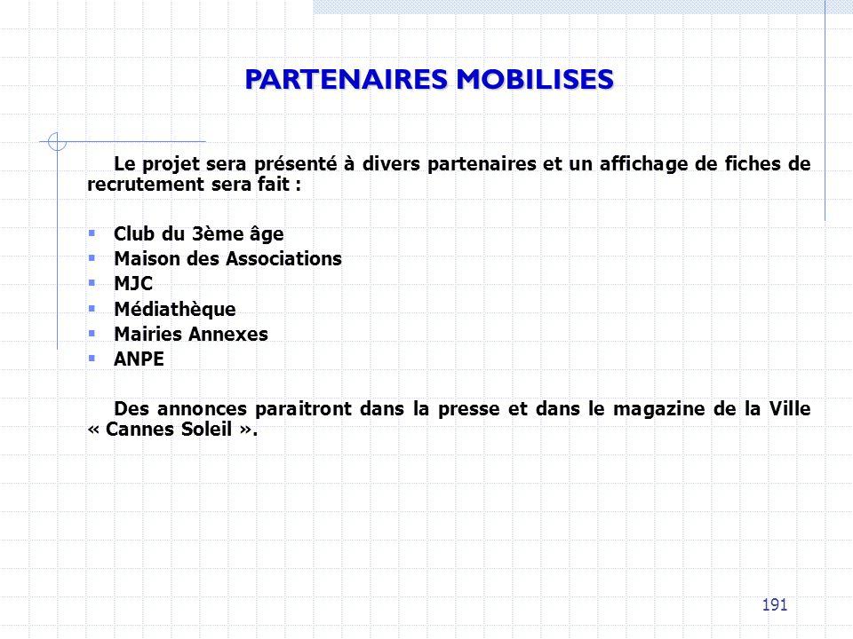 PARTENAIRES MOBILISES