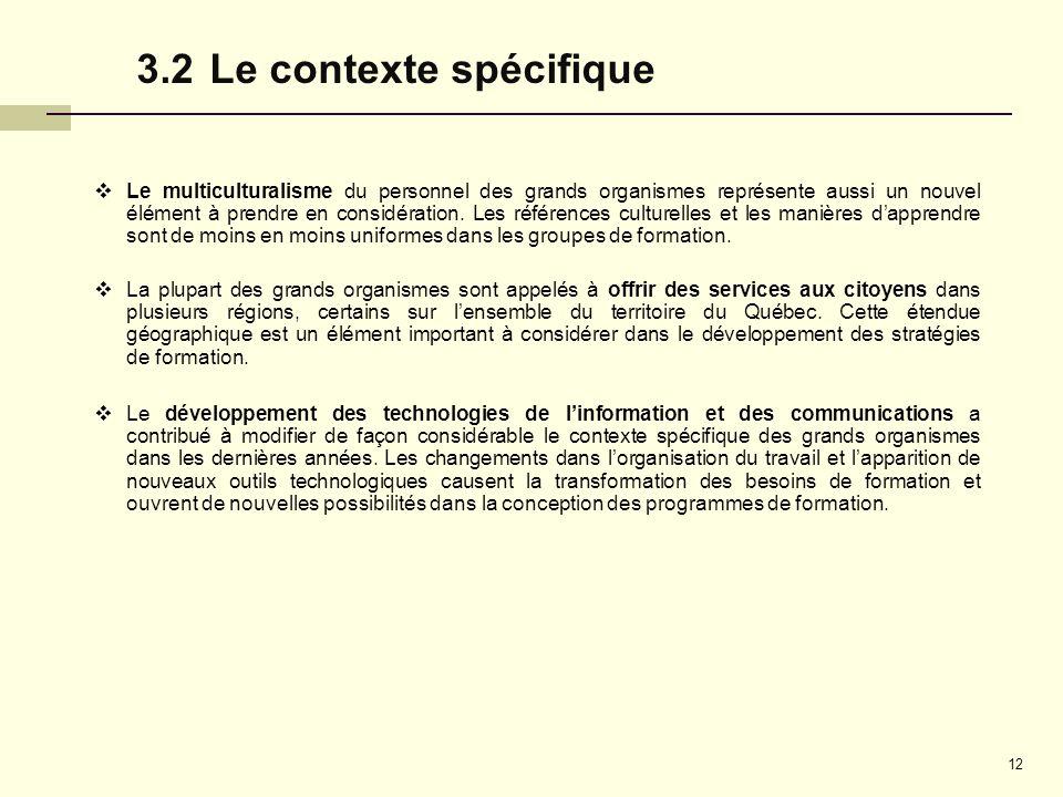 3.2 Le contexte spécifique