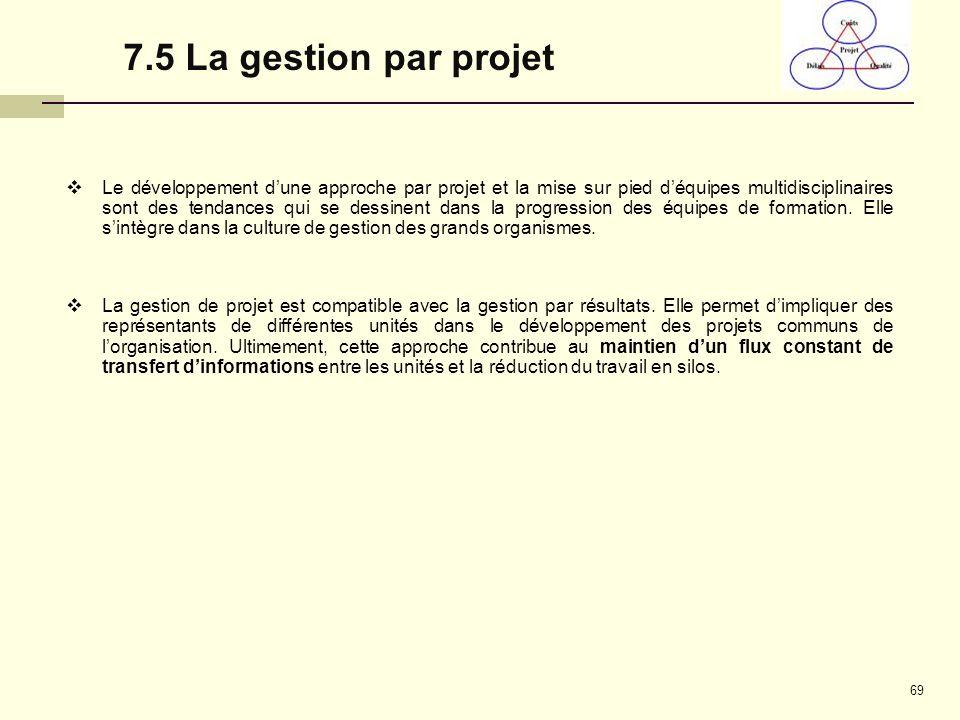 7.5 La gestion par projet