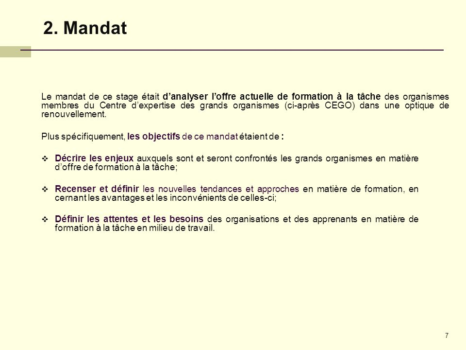 2. Mandat