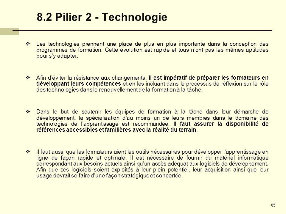 8.2 Pilier 2 - Technologie