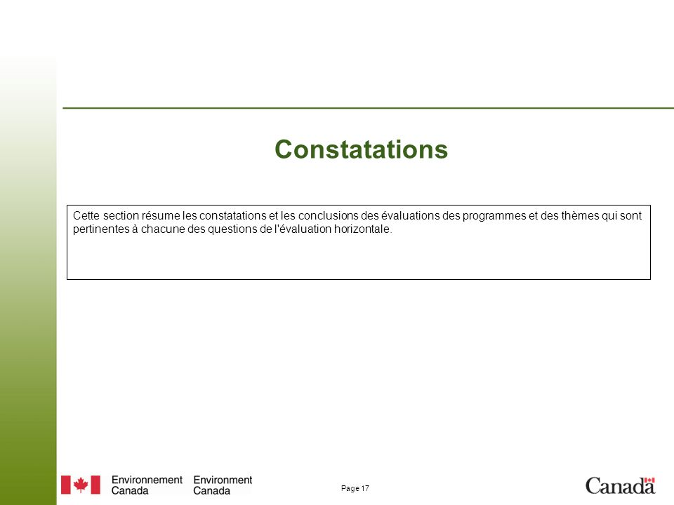 Constatations