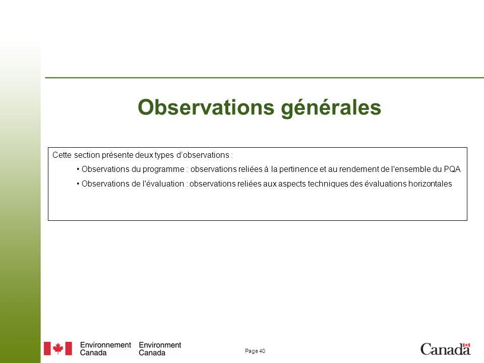 Observations générales