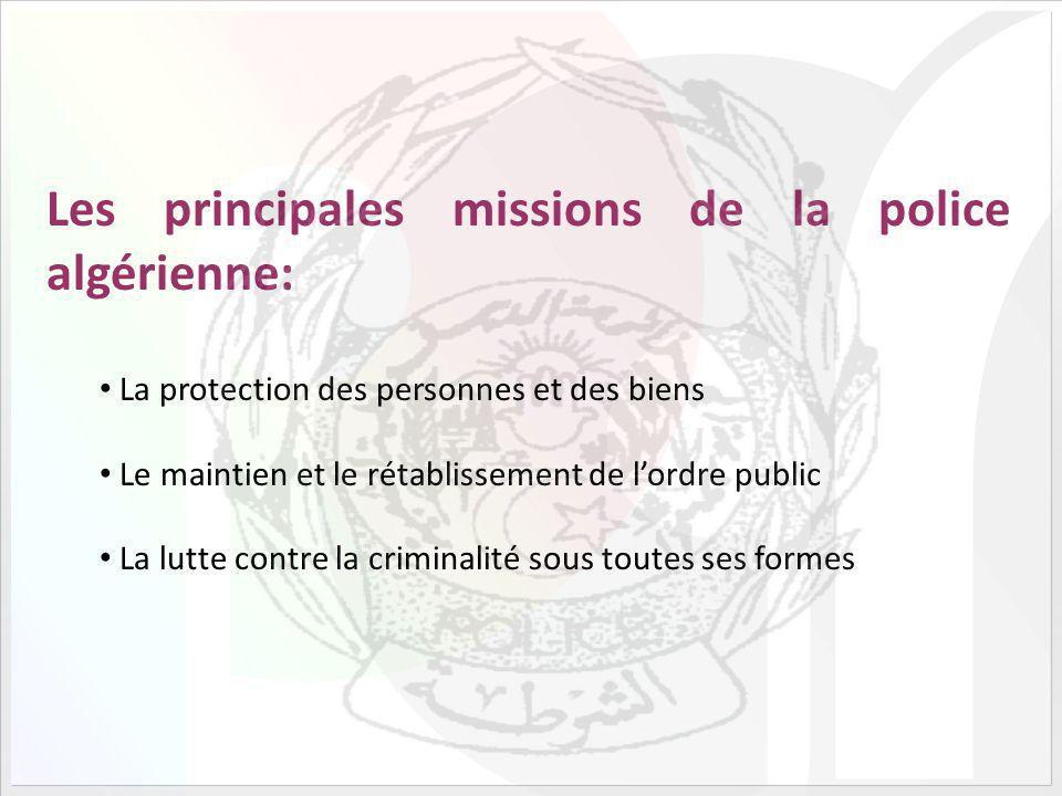 Les principales missions de la police algérienne: