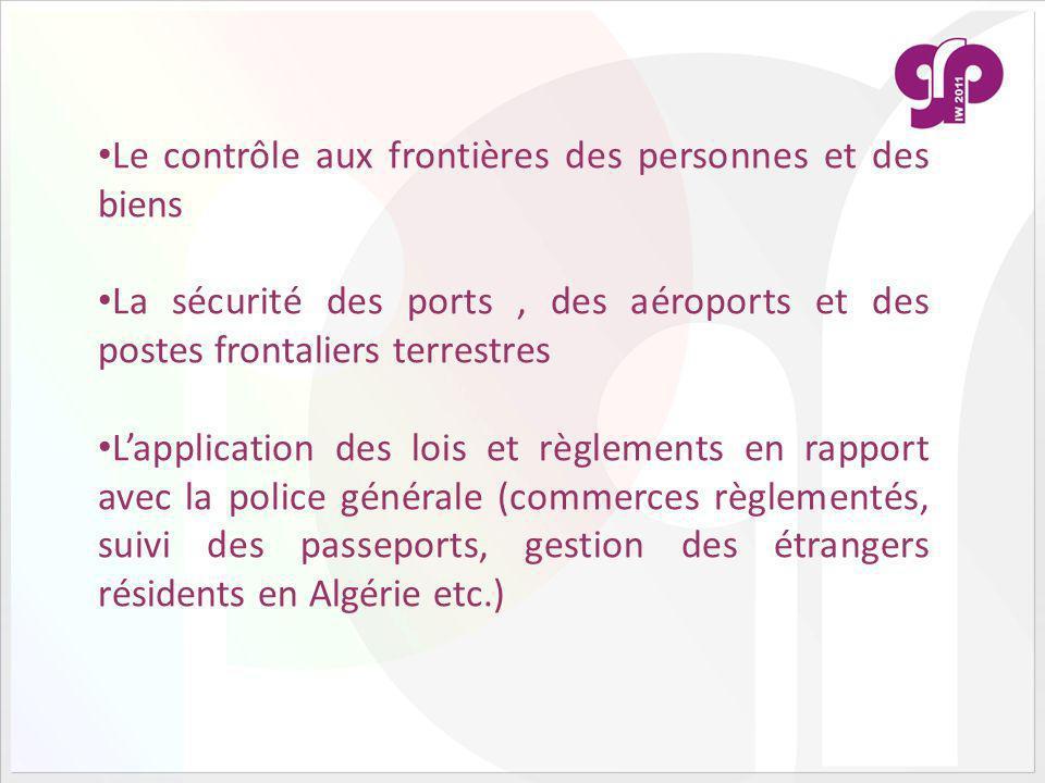 Le contrôle aux frontières des personnes et des biens