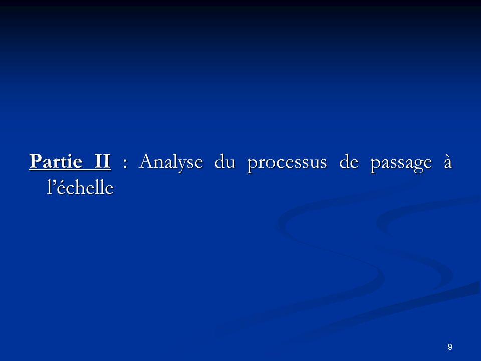 Partie II : Analyse du processus de passage à l'échelle