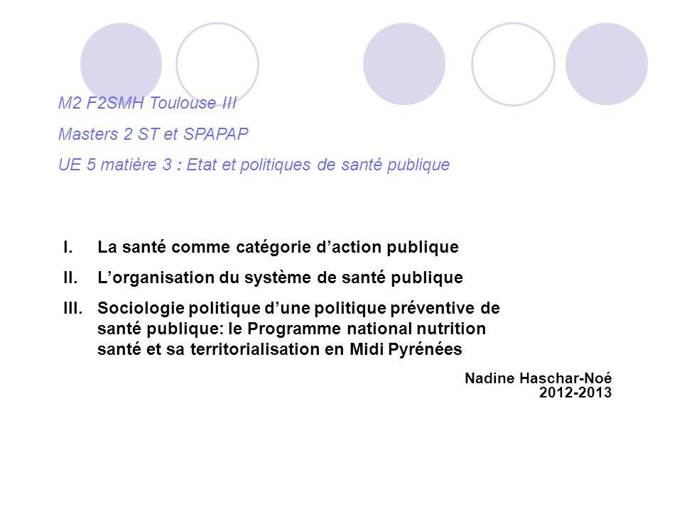 UE 5 matière 3 : Etat et politiques de santé publique