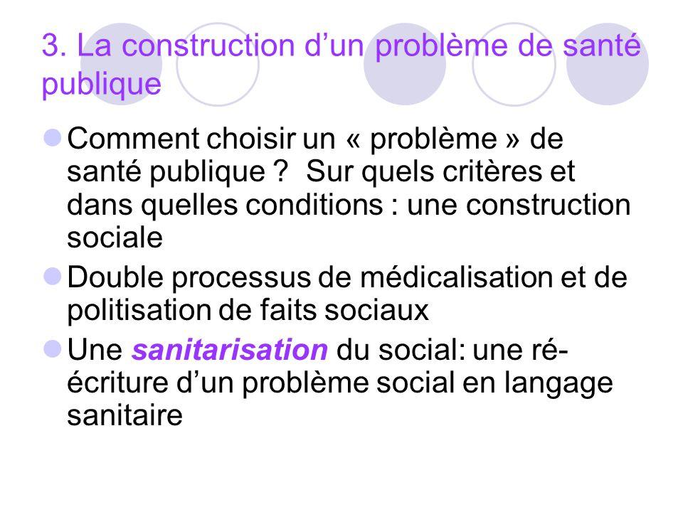 3. La construction d'un problème de santé publique