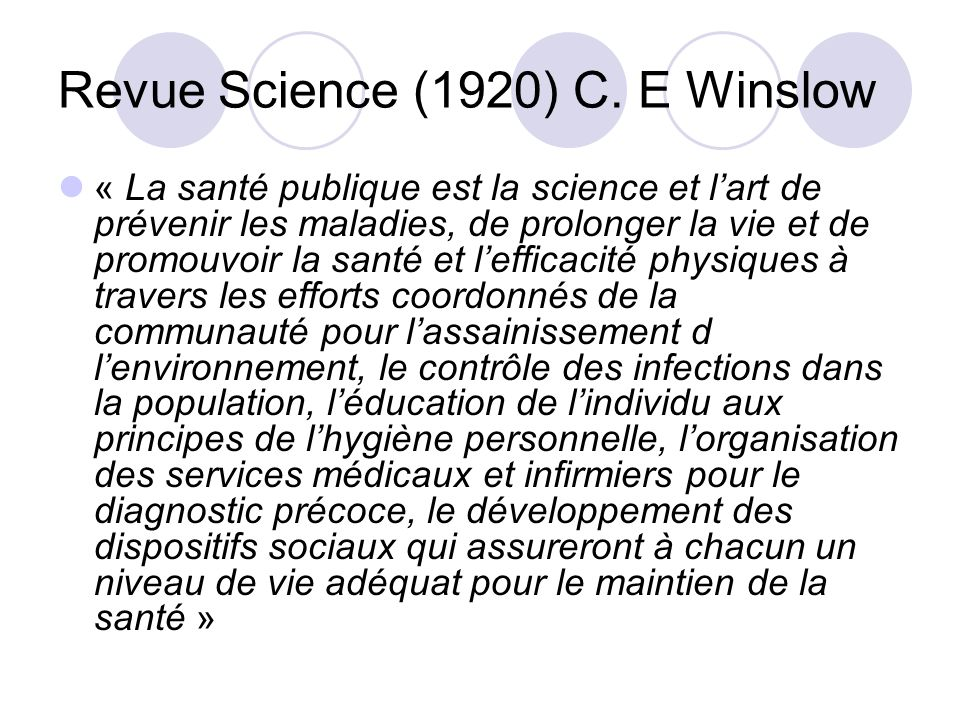 Revue Science (1920) C. E Winslow