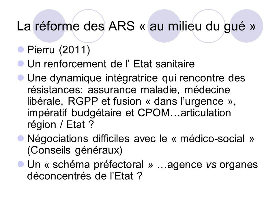 La réforme des ARS « au milieu du gué »