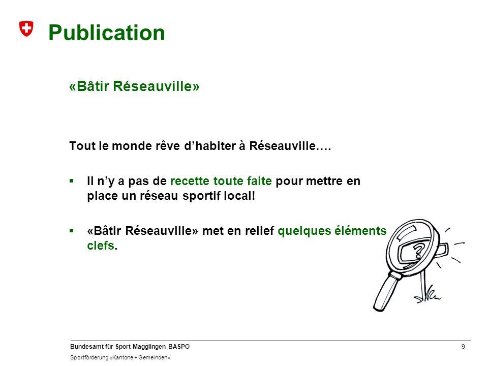 Publication «Bâtir Réseauville»