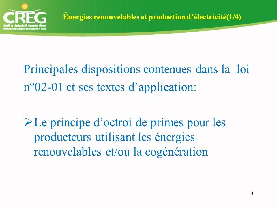 Énergies renouvelables et production d'électricité(1/4)