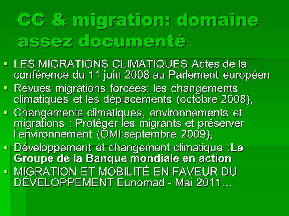 CC & migration: domaine assez documenté