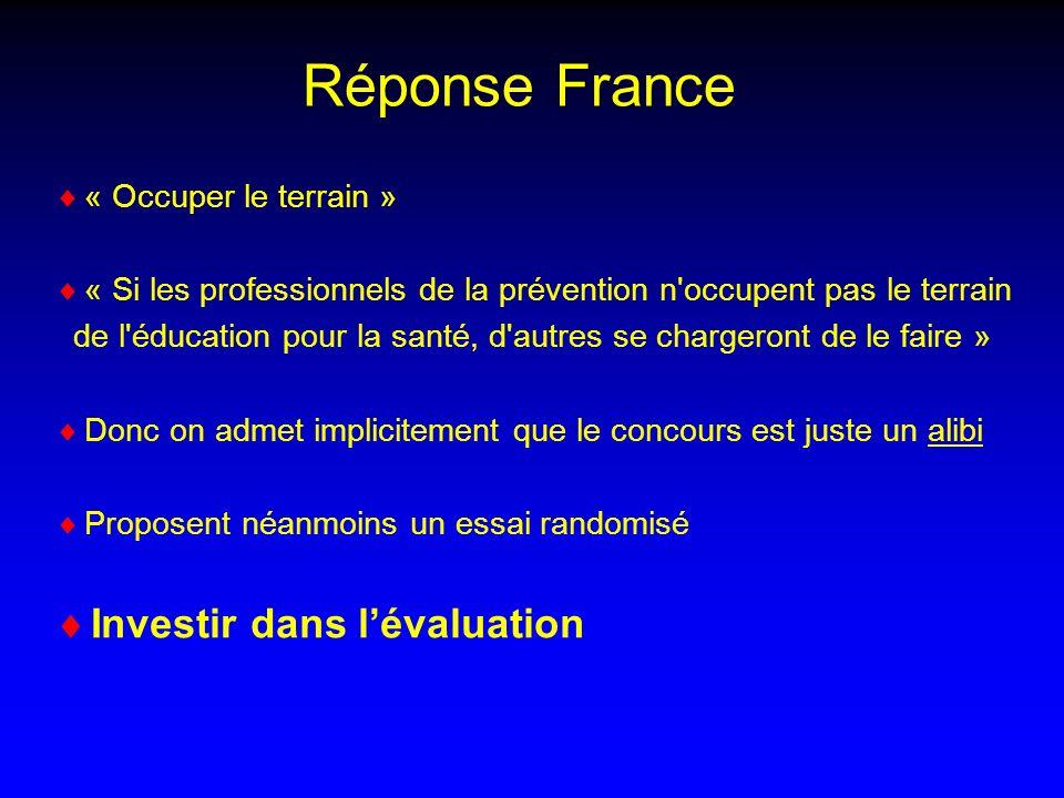Réponse France Investir dans l'évaluation « Occuper le terrain »