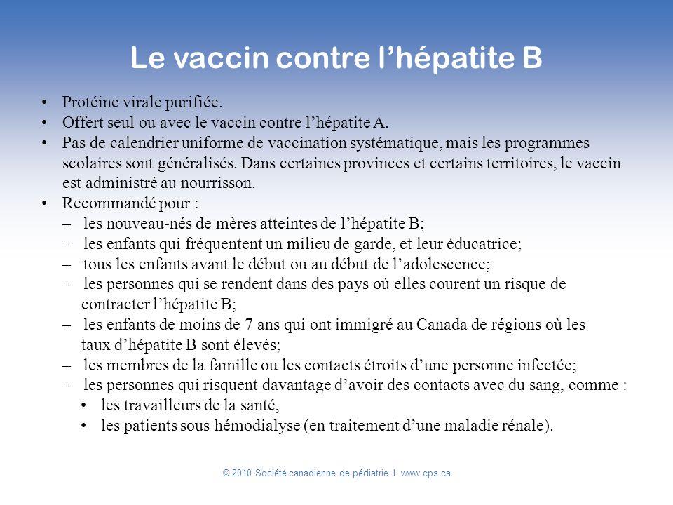 Le vaccin contre l'hépatite B