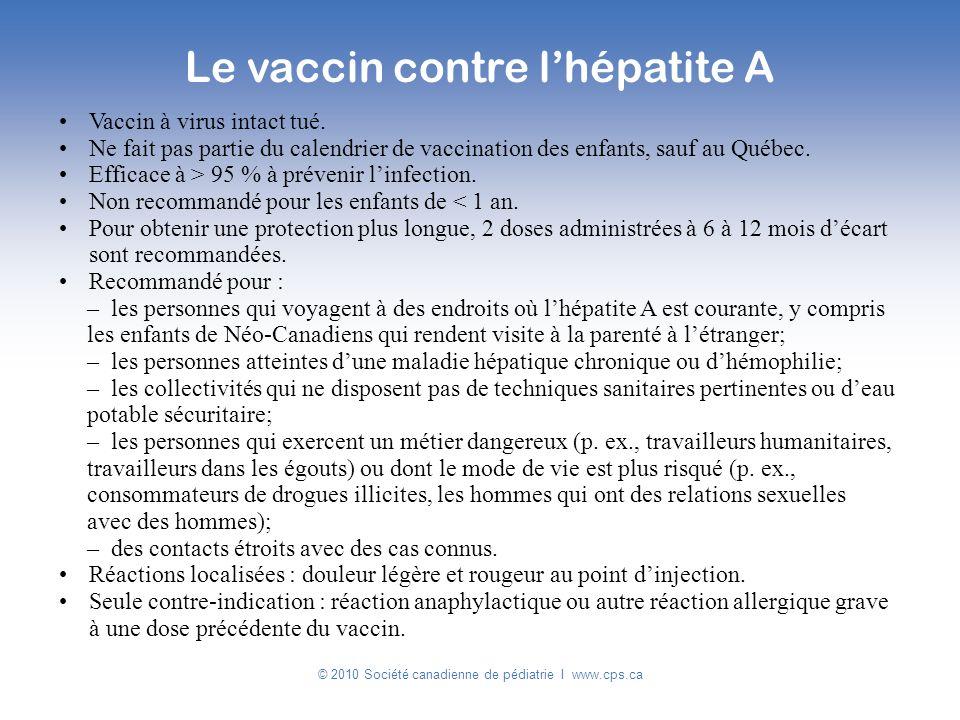 Le vaccin contre l'hépatite A