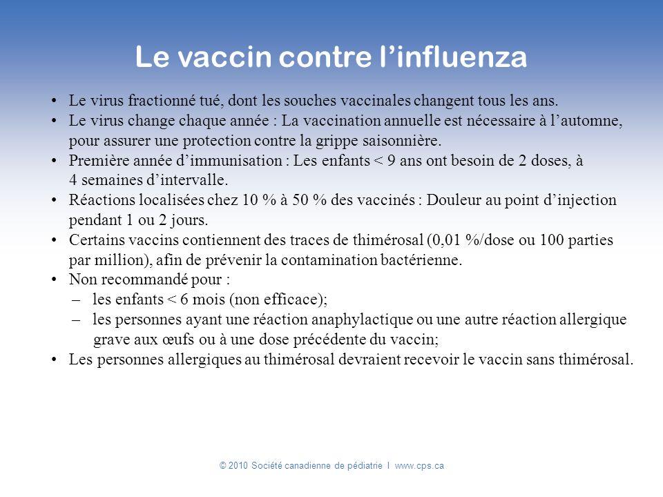 Le vaccin contre l'influenza