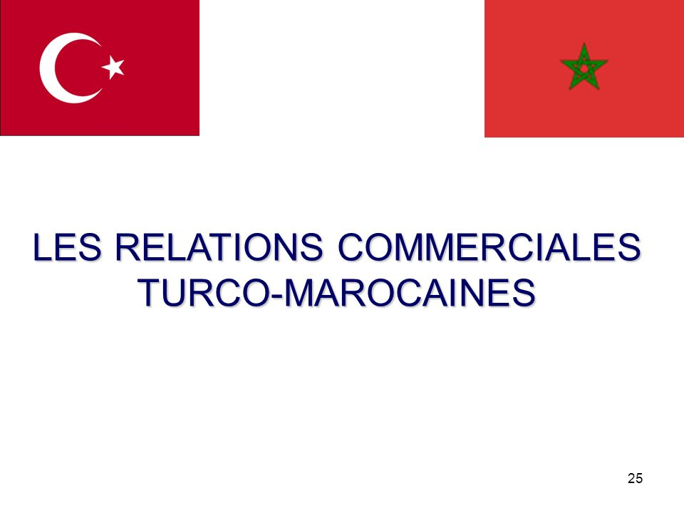 LES RELATIONS COMMERCIALES TURCO-MAROCAINES